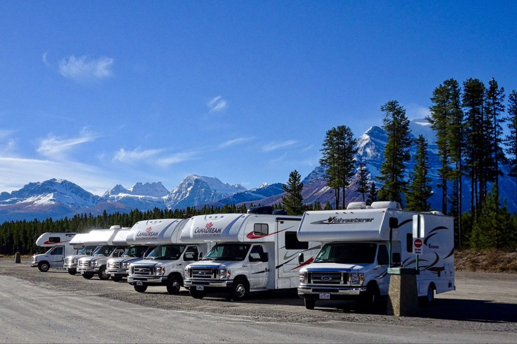 picture of many RVs